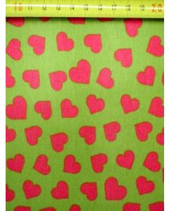 Tricot hart lime-pink