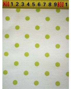 Canvas BB-stip wit/lime