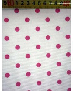 Canvas BB-stip wit/pink