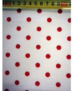 Canvas BB-stip wit/rood