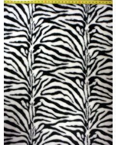 Wellness fleece zebra zwart