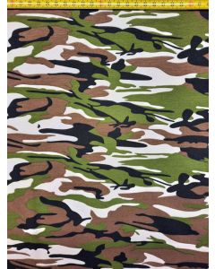 Tricot camouflage groen