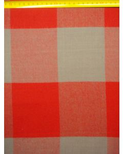 Wol/Polyester blok rood